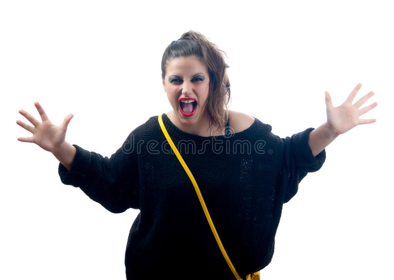 Download Pretty Angry Woman Screaming Stock Image - Image: 23878997