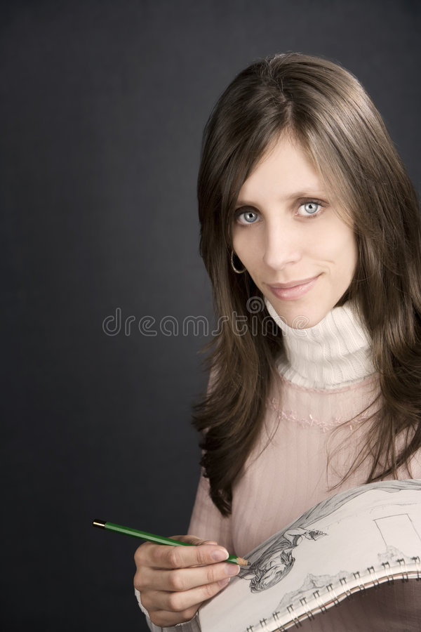 Download Pretty Artist Stock Photography - Image: 7416052