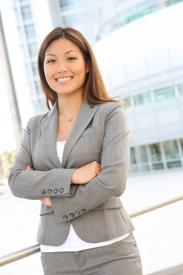 Free Pretty Asian Business Woman Royalty Free Stock Image - 5713006