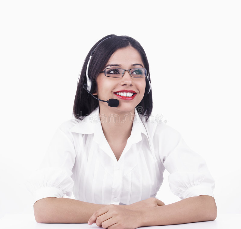 Download A Pretty Asian Call Centre Girl Stock Image - Image: 6889023
