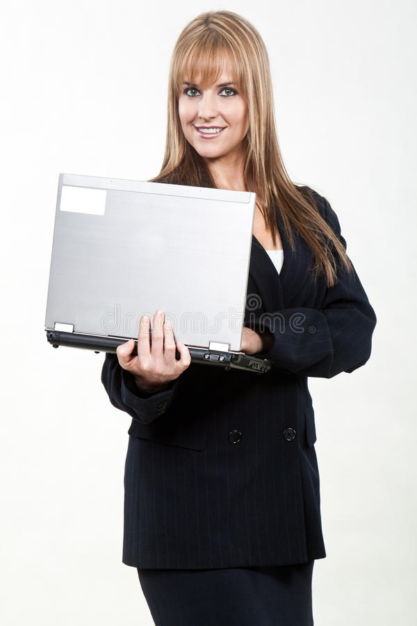 Attractive twenties caucasian business woman stock image