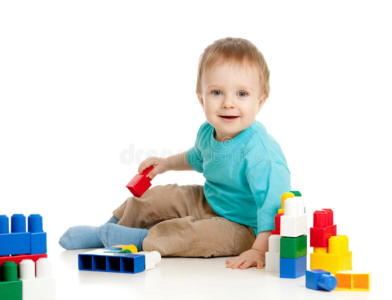 Download Pretty Baby With Color Educational Toy Stock Photos - Image: 22429433