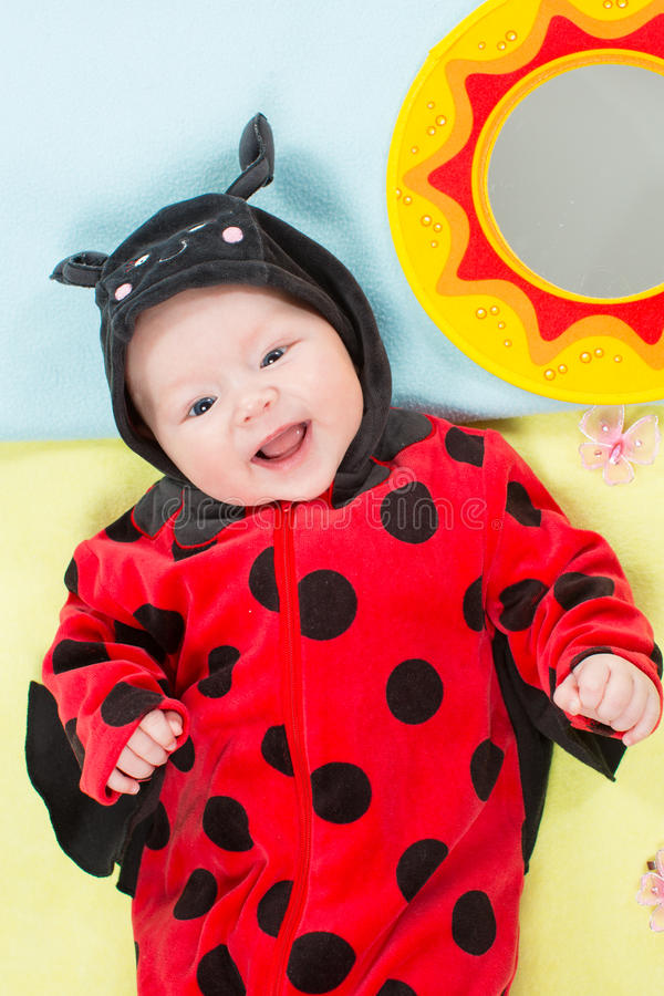 Download Pretty Baby Girl, Dressed In Ladybug Costume Royalty Free Stock Photos - Image: 27640508
