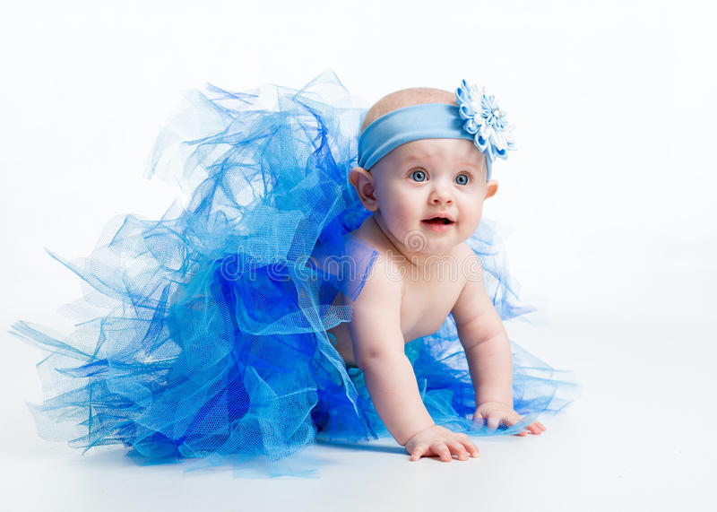 Pretty baby girl weared tutu royalty free stock images