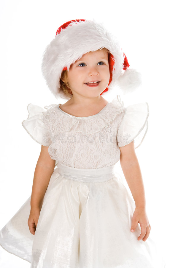 Download Pretty Baby In Santa Red Hat Stock Image - Image: 3287001
