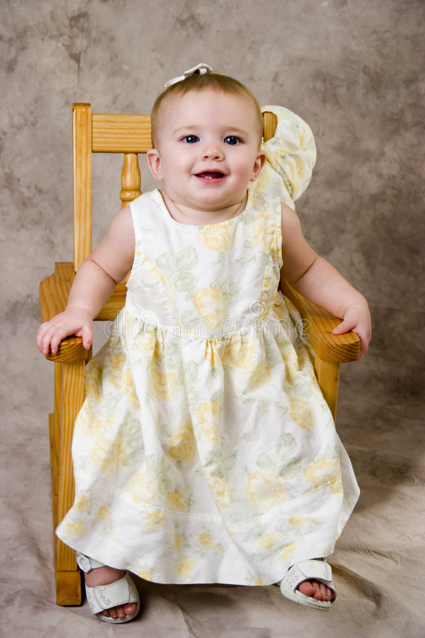 Download Pretty Baby Smile stock photo. Image of chair, beauty - 1212552