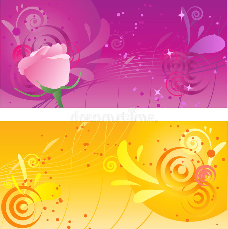 Download Pretty Backgrounds With Swirl Design Stock Vector - Illustration: 10667018
