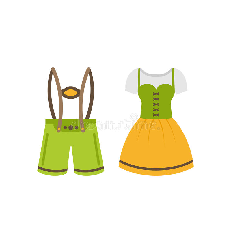 Pretty Bavarian girl, Oktoberfest woman, vector illustration