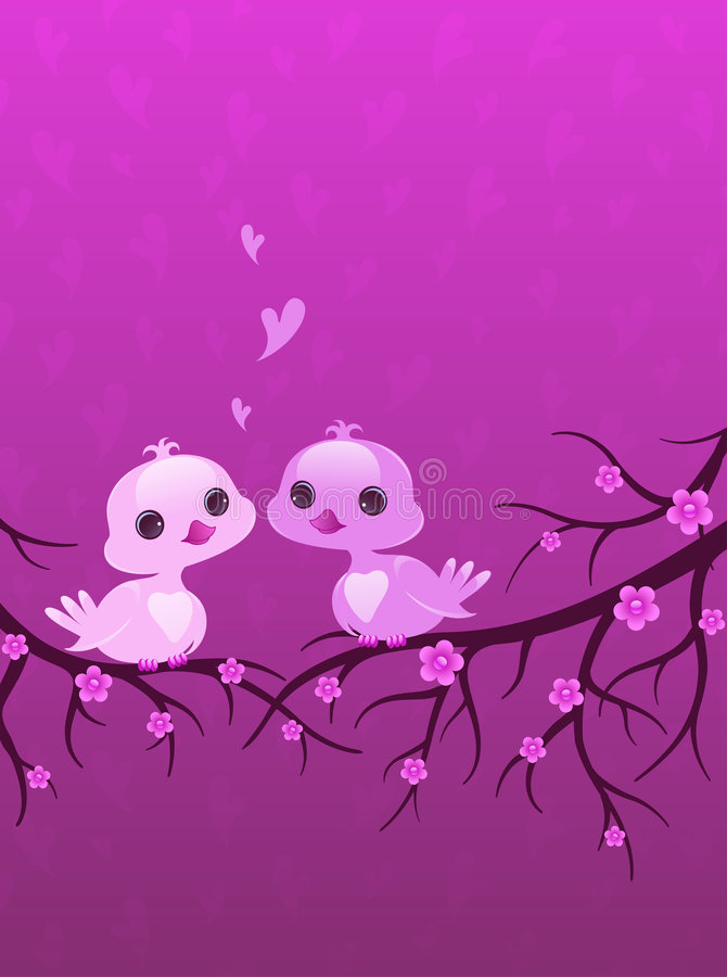 Pretty birds. Cute baby animals vector illustration
