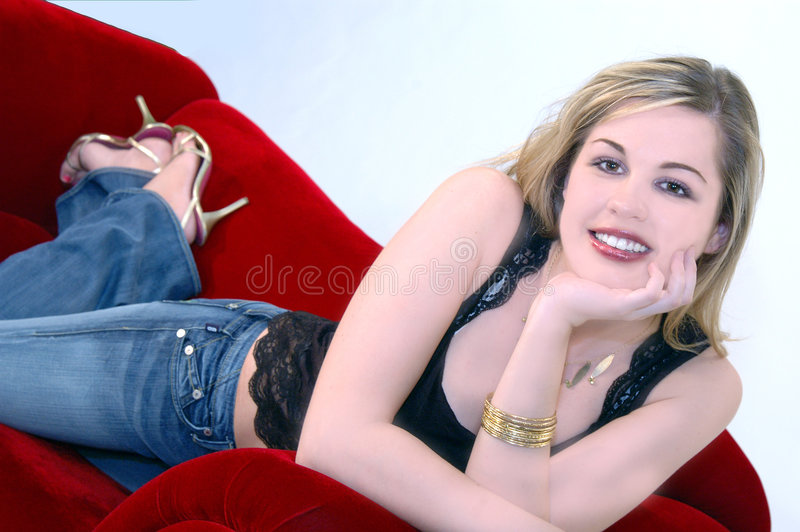 Download Pretty Blond stock image. Image of isolated, female, over - 102245