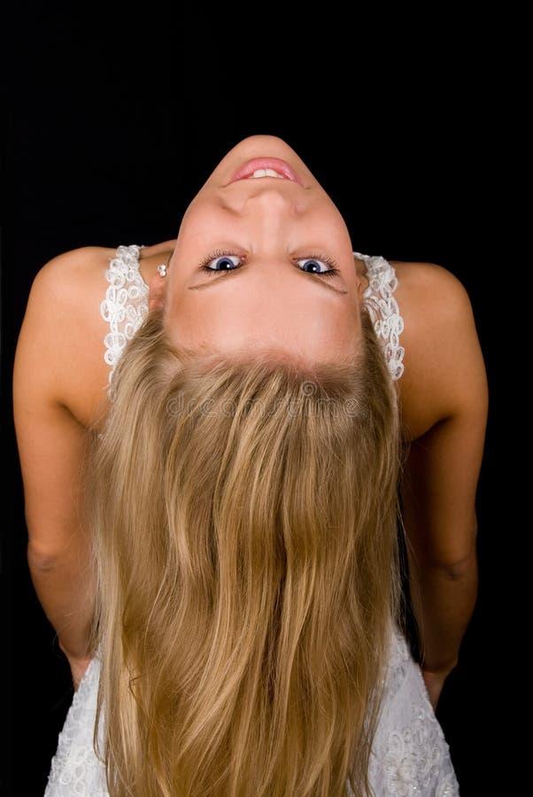 Pretty blond stock image