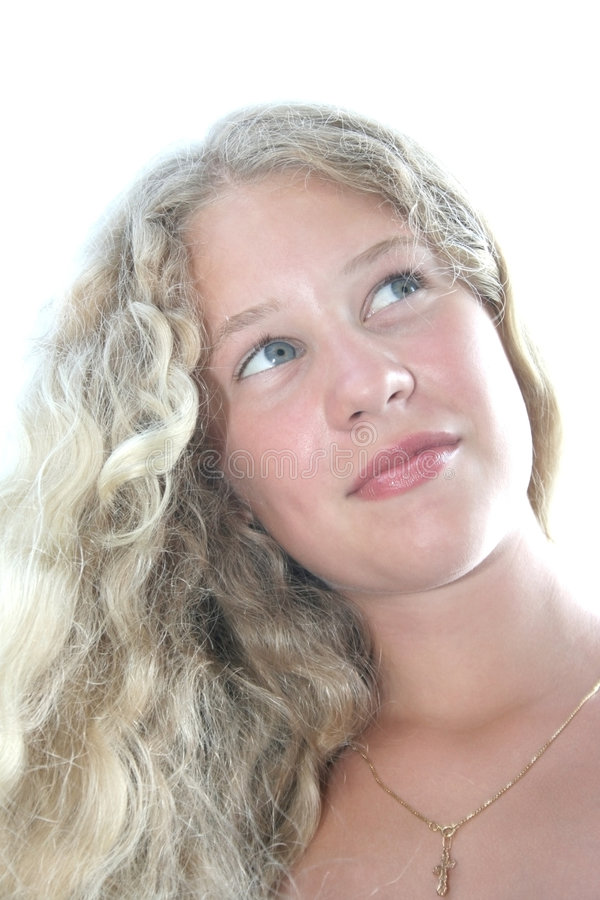 Download Pretty blond girl stock image. Image of caucasian, person - 9207463