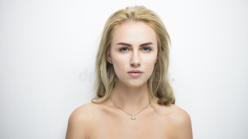 Pretty blond portrait royalty free stock images