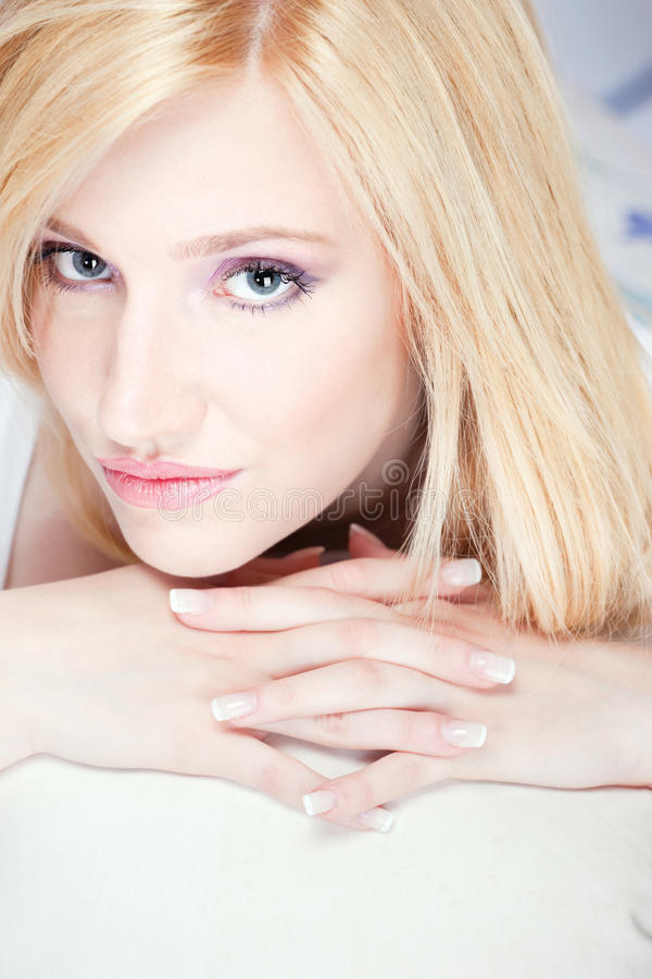 Download Pretty blond woman stock photo. Image of girl, cheerful - 24033076
