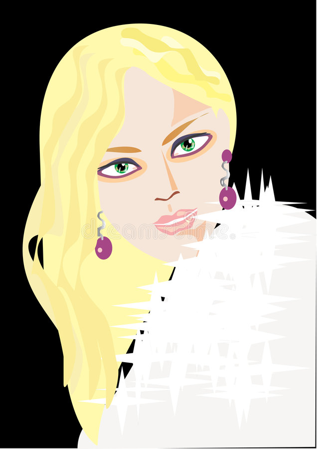 Download Pretty blond woman in firs stock vector. Image of glamour - 7937488