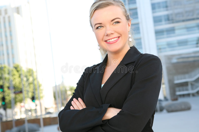 Pretty Blonde Business Woman royalty free stock photo
