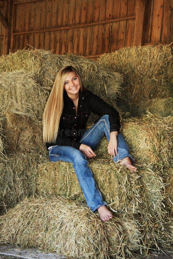 Free Pretty Blonde High School Senior Country Girl Royalty Free Stock Image - 37850986