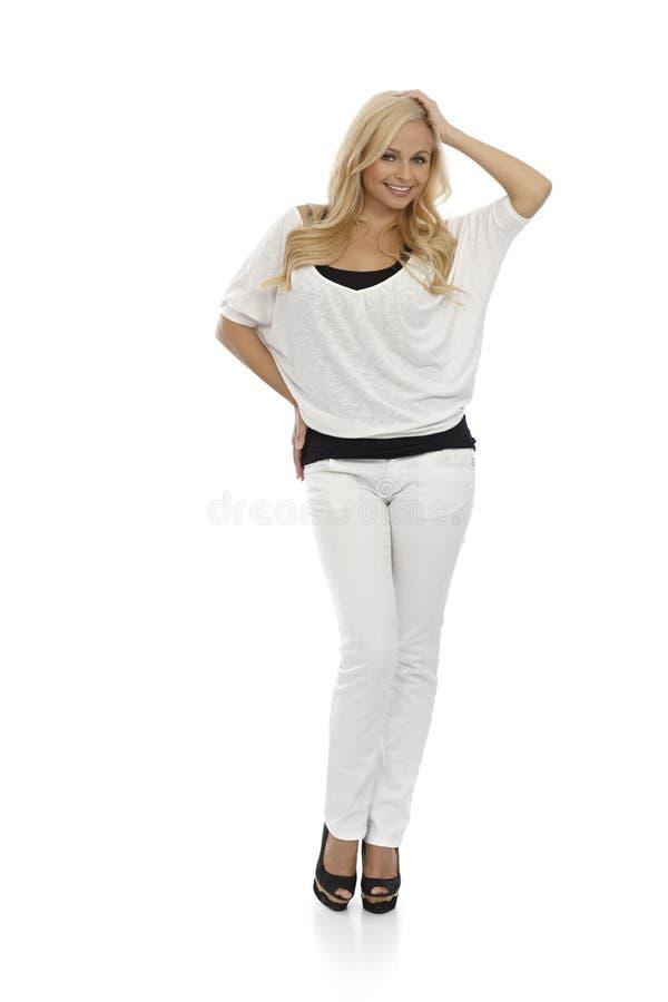 Pretty Blonde Posing Full Size Stock Photo
