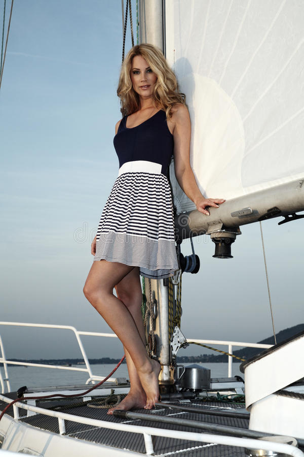Free Pretty Blong On The Yacht Stock Photo - 20974400