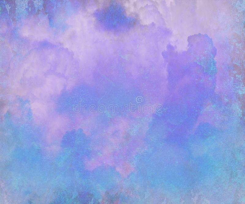 Pretty Blue Watercolor Abstract Digital Painting royalty free illustration