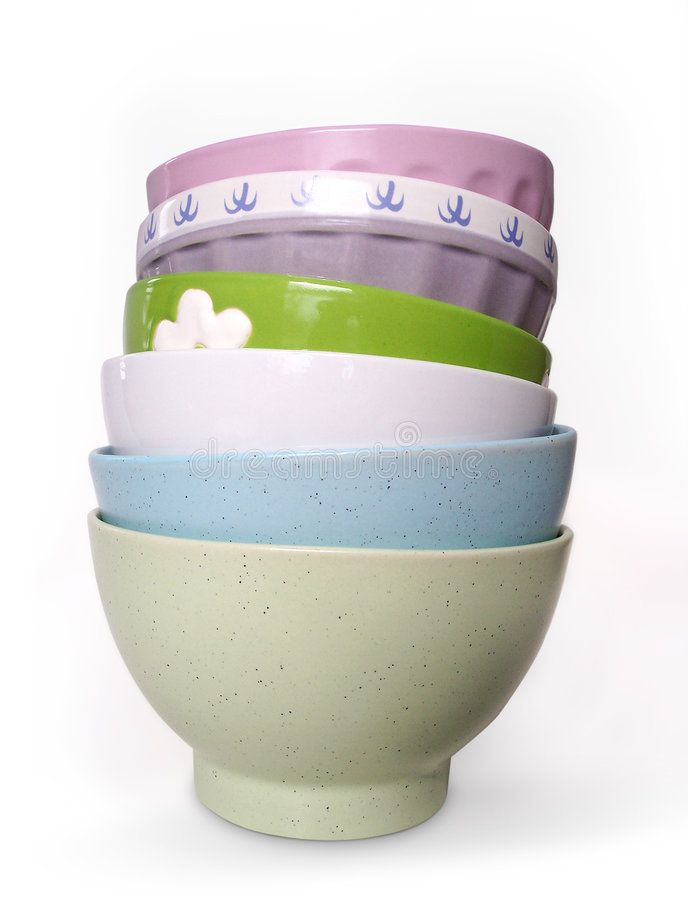 Download Pretty Bowls (path Included) Stock Photo - Image: 97740