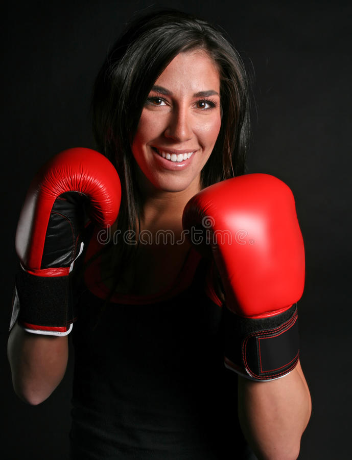 Download Pretty Boxer stock photo. Image of trainer, mitts, sport - 18876202