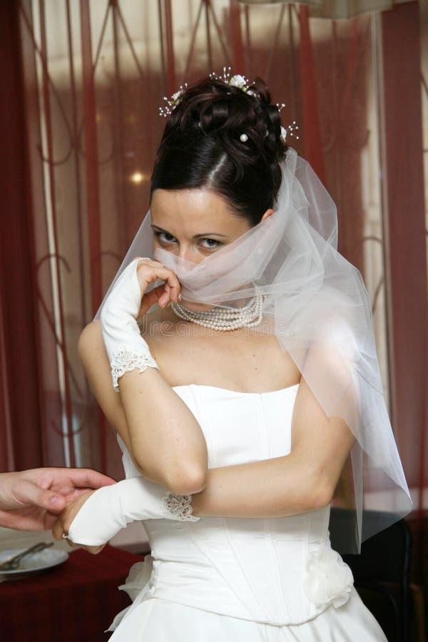 Pretty bride. royalty free stock photos