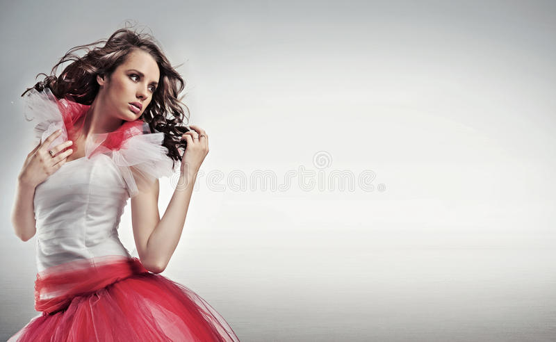 Pretty brunette royalty free stock photos