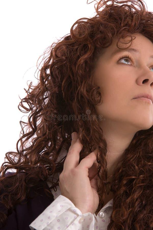 Download Pretty brunette stock image. Image of white, brunette - 7099443