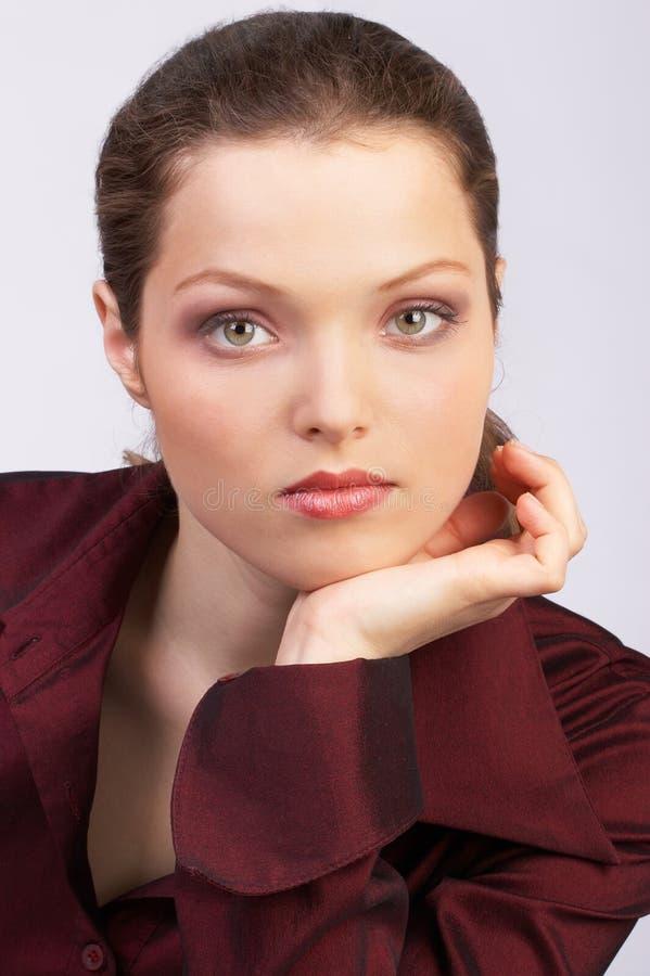 Pretty business woman. stock photo