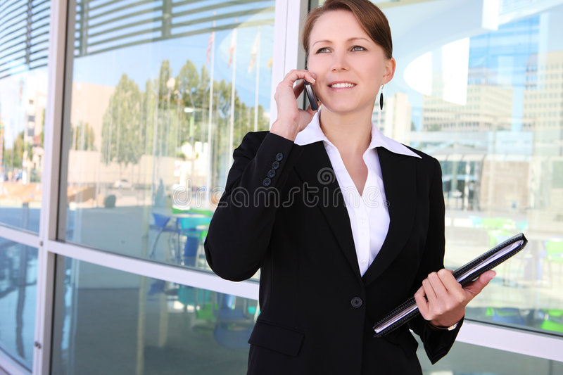 Pretty Business Woman at Office stock images