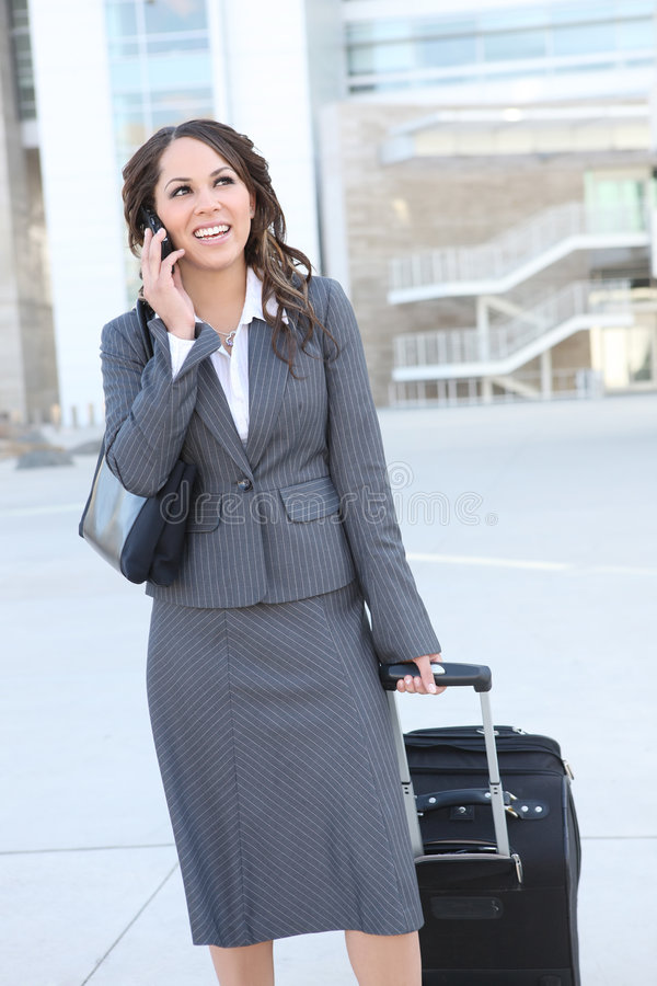 Download Pretty Business Woman At Office Building Royalty Free Stock Photo - Image: 6341225