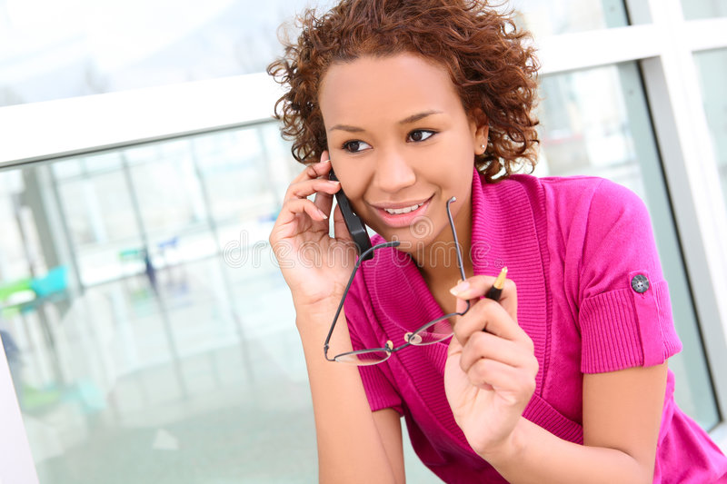 Download Pretty Business Woman On Phone Stock Photo - Image: 9015380