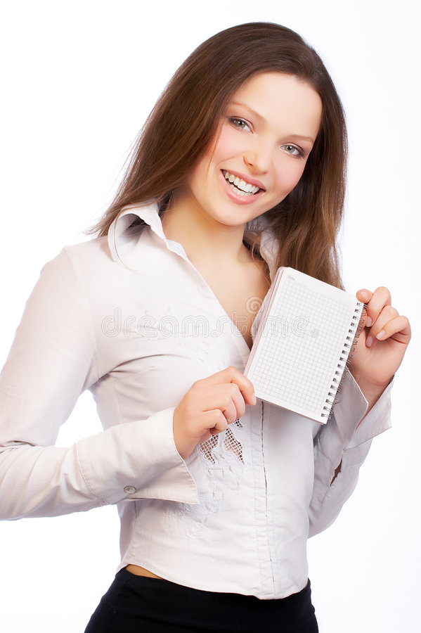 Pretty businesswoman. royalty free stock photography
