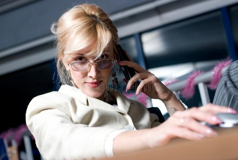 Download Pretty businesswoman stock photo. Image of communication - 8626238