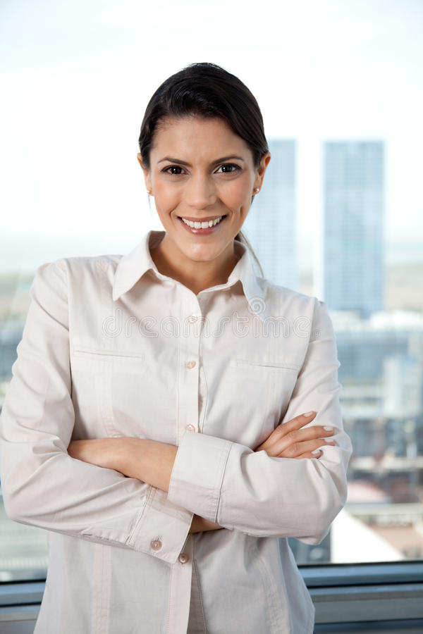 Download Pretty Businesswoman With Arms Crossed Stock Image - Image of individuality, arms: 22210907