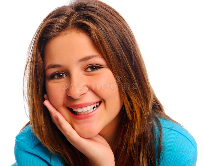 Download Pretty carefree teen stock photo. Image of teenager, portrait - 17334760