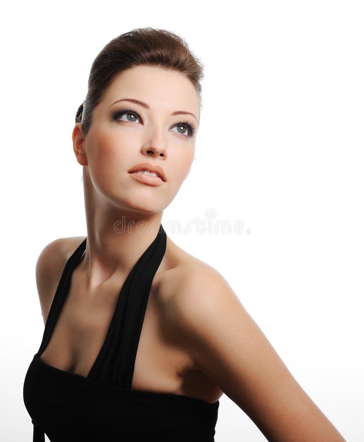 Pretty caucasian woman stock image