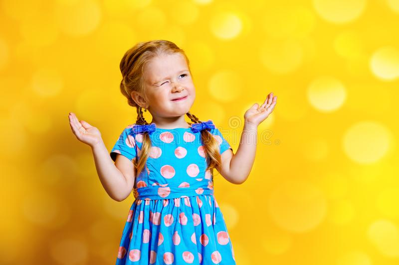 Pretty cheerful girl royalty free stock photos
