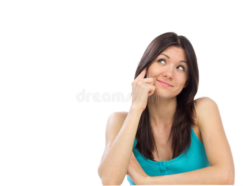 Download Pretty Cheerful Woman Talking On The Mobile Phone Stock Photo - Image: 24610994