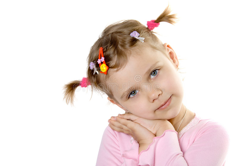 Pretty child look in to camera stock photos