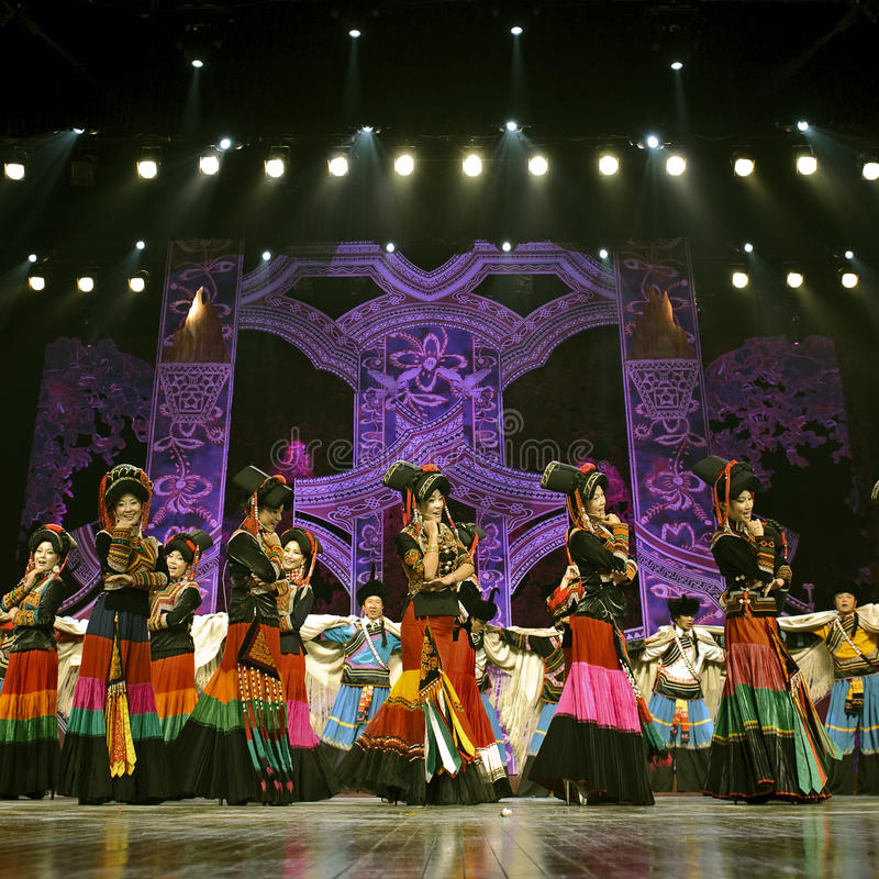 Download Pretty Chinese Ethnic Dance Of Yi Nationality Editorial Photo - Image of passion, excited: 27083776