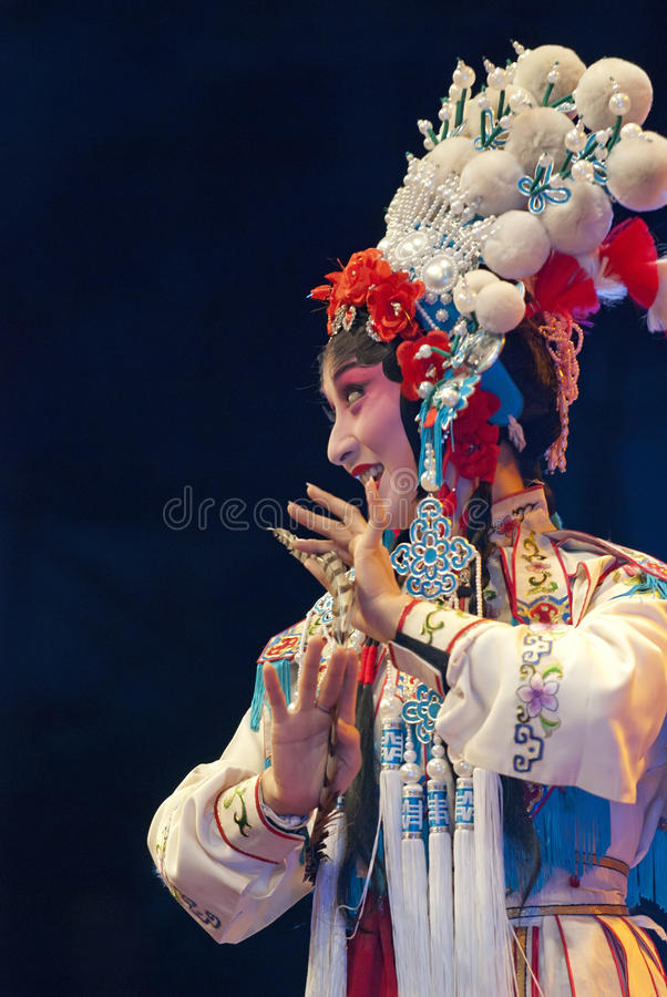 Download Pretty Chinese Opera Actress Editorial Stock Photo - Image of makeup, grace: 18356413