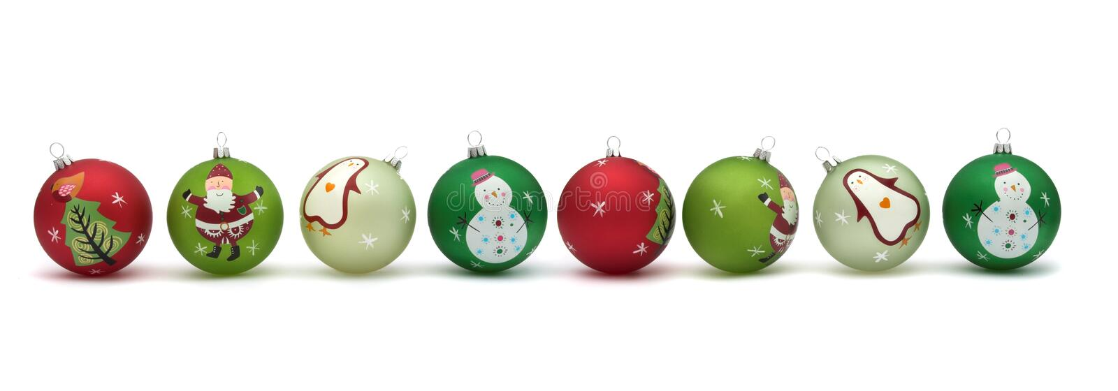 Pretty Christmas baubles royalty free stock photography