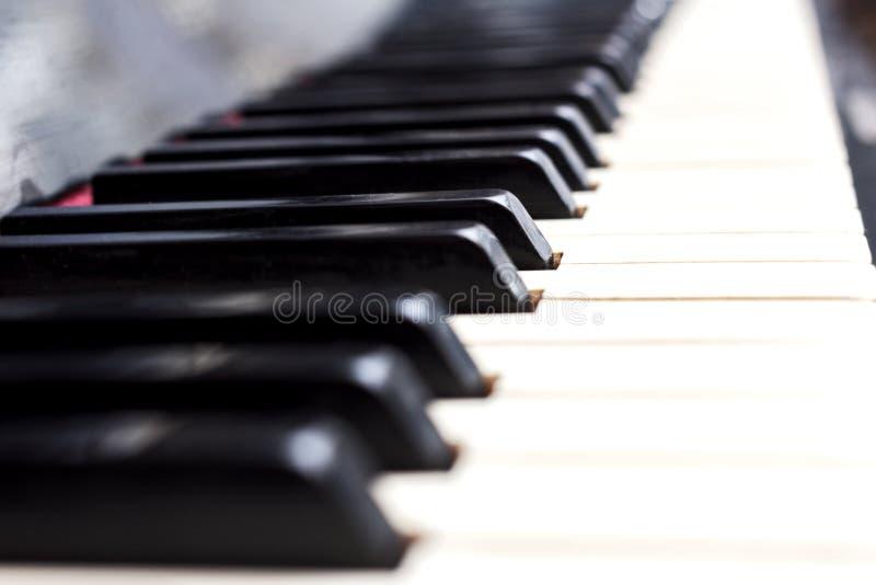 Piano keys black and white stock photo