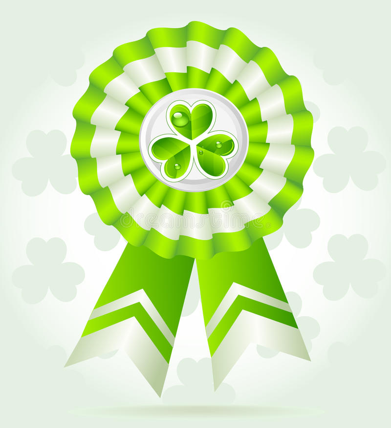 Pretty clover award on St. PatricK`s Day royalty free stock image
