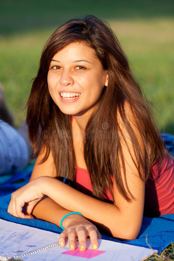 Pretty college girl royalty free stock image