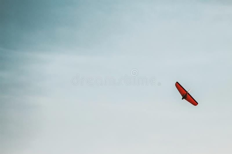 Flying Plane Model Toy stock image