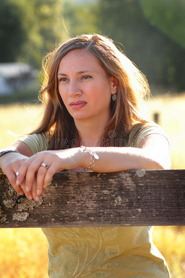 Download Pretty Country Girl stock image. Image of think, thinking - 21040609