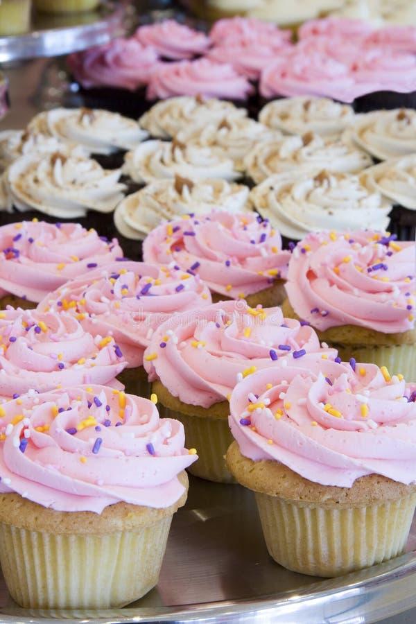 Pretty cupcakes. stock photos